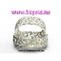 Kelta Csomó Mintázatú Karika Gyűrű Drágakővel